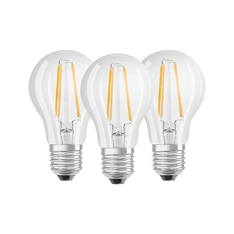 Osram 819535 Bombilla LED E27, 6.5 W, Blanco 3 Unidades