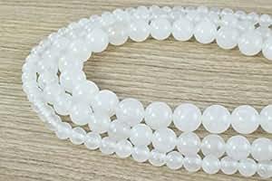 White Aventurine Gemstone Round Beads 6mm/8mm/10mm natural healing stone chakra stones for Jewelry Making Sold by Strand (10mm)