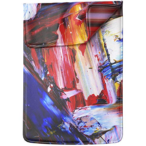 Lex Altern Tablet Sleeve Case for iPad Pro 12.9 11 10.5 9.7 inch Mini 5 4 3 2 1 Air 2 2019 2018 2017 5th 6th 3rd Gen Watercolor Strokes Artist Gift Paint Abstract Blue Shockproof Lightweight Design ()