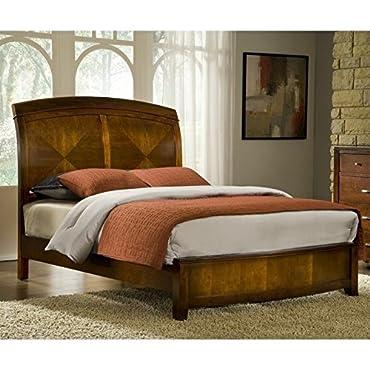 Modus Furniture BR15S5 Brighton Low Profile Sleigh Bed, Queen, Cinnamon