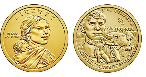 2018 P, D Native American (Sacagawea/Golden) Dollar 2 Coin Set Uncirculated