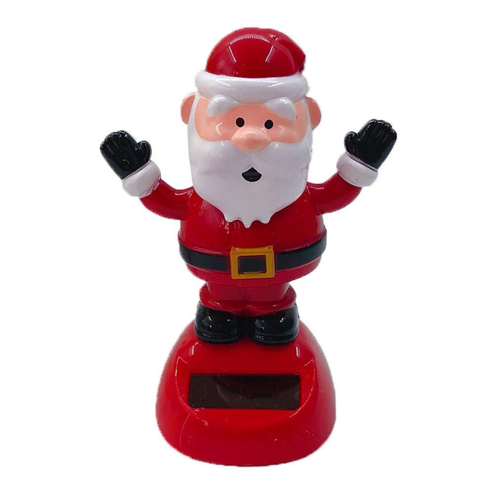 Lennonsi Figura Giocattolo traballante Giocattolo Interno dell'automobile della Decorazione della Piccola Automobile del Babbo Natale