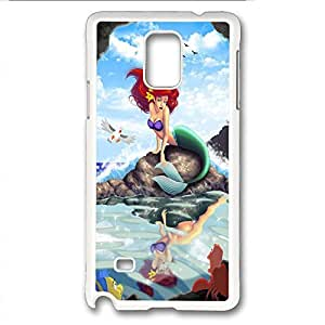Note 4 case,Note 4 PC white Case,provides protection against daily wear for samsung Note 4 PC cover,The Little Mermaid by runtopwell