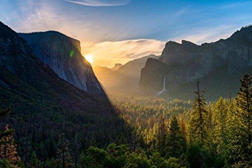 Tunnel View Yosemite Valley Yosemite National Park California Photo Art Print Poster 36x24 inch