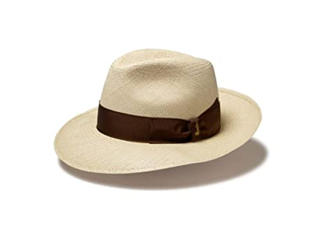 4822460b658411 Borsalino Wide Brim Panama Fedora at Amazon Men's Clothing store: