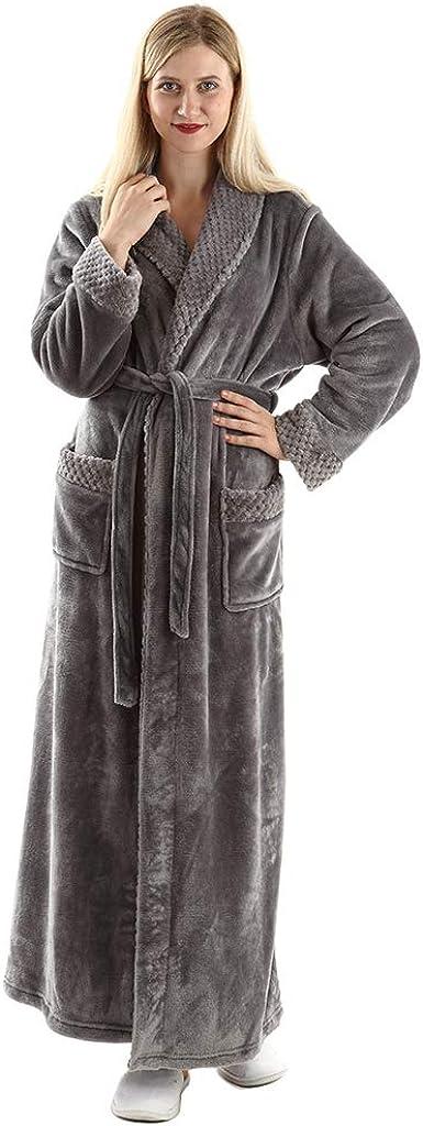 TALLA 36/38 ES/Etiqueta M. Oksun - Albornoz de invierno para mujer, talla grande, forro polar cálido