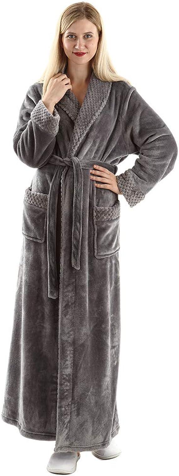 Men/'s Super Soft Warm Cozy100/% Plush Coral Fleece Robe,Large//XLarge,Black