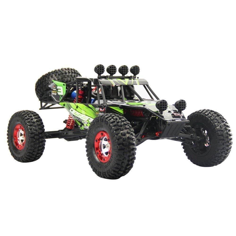 AIBOAT RCカー、デザートオフロードトラックFY03ファーストレースカー1:12フルスケールレーシング4WDパワーバギー2.4Gラジオリモートコントロールオフロードカー(グリーン) B07QT1FRYW