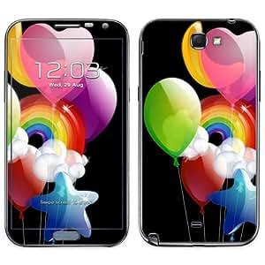 Diabloskinz B0091-0003-0027 Helium Happiness - Skin de vinilo para Samsung Galaxy Note 2, diseño de globos y arcoíris