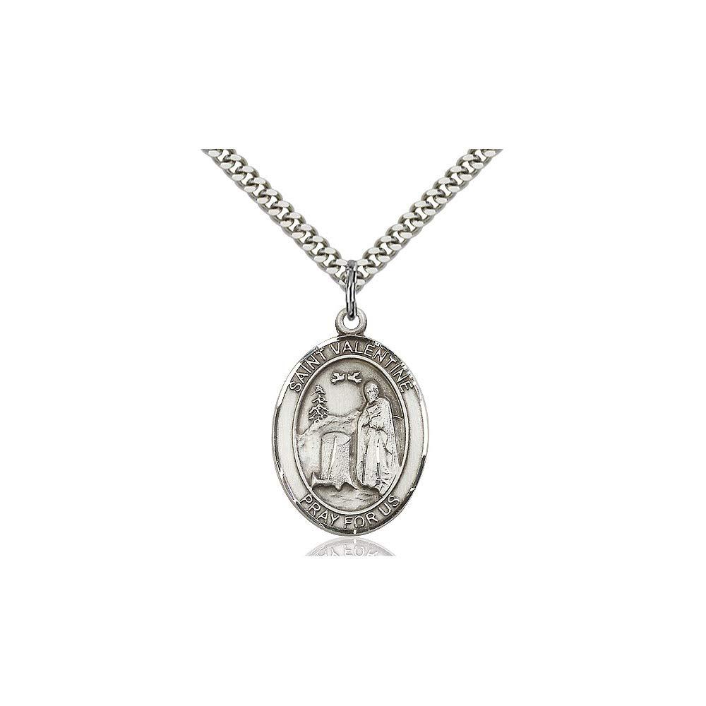 Valentine of Rome Pendant DiamondJewelryNY Sterling Silver St