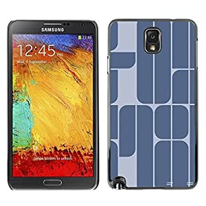 Colorful Printed Hard Protective Back Case Cover Shell Skin for SAMSUNG Galaxy Note 3 III / N9000 / N9005 ( 78 Year Blue Grey Minimalist Text ) Kimberly Kurzendoerfer