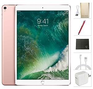 Apple iPad Pro 10.5 inch Wifi, 2017 model - 512GB Rose Gold + USA Warehouses Accessories Bundle MPGL2LL/A