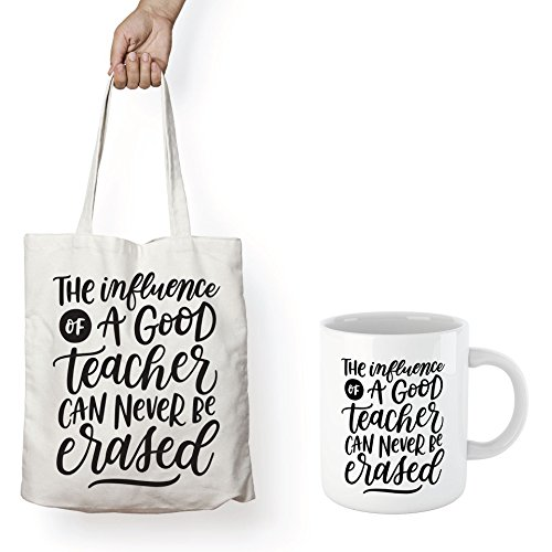 Teacher's MUG & TOTE - THE INFLUENCE OF A TEACHER CAN NEVER BE ERASED