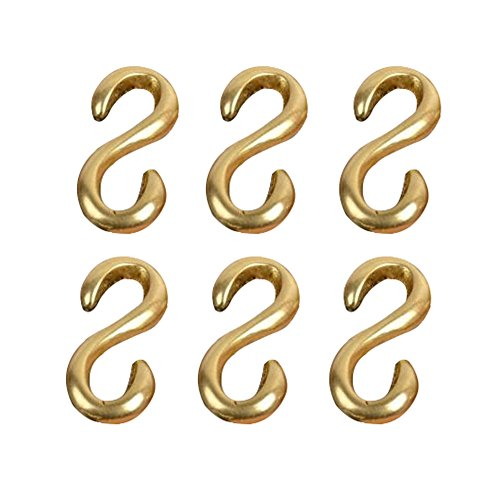 Seventopia Brass Connectors for Leathercrafts - Jewelry Clasps and Closures Bulk for Jewelry - Hooks S Gold