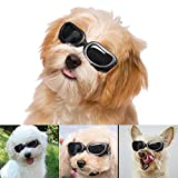 SENQIAO Dog Goggles Cool Pet Sunglasses UV Protection Waterproof & Adjustable Strap for Cat or Small Dogs
