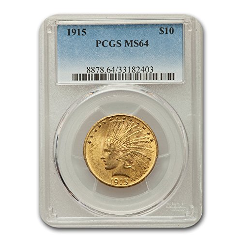 1915 $10 Indian Gold Eagle MS-64 PCGS G$10 MS-64 PCGS