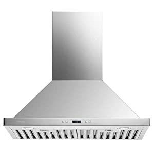 "CAVALIERE 30"" Range Hood Wall Mounted Stainless Steel Kitchen Vent 900CFM"