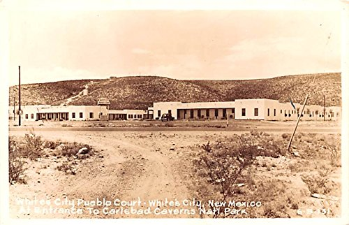 White's City Pueblo Court Whites City, New Mexico postcard