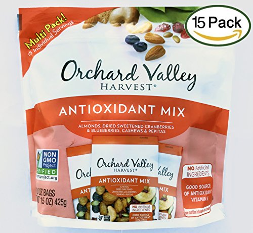 (Orchard Valley Harvest Snack Packs -Antioxidant Mix Multi Pack, Non-GMO Project Verified, No Artificial Ingredients, 15 ounces (15 Individual Packs))