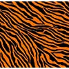 Bandana Zebre orange Ska Punk Rock Gothique Emo Cyber techno Goth