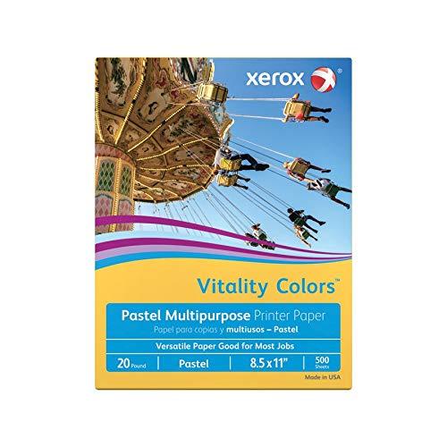 Xerox XER3R11055 Multipurpose Pastel Paper, 20-lb, Letter Size, Gold, 500 Sheets Per Ream