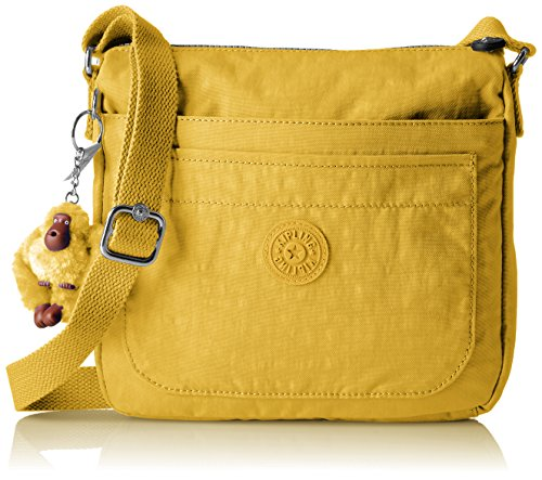 Kipling Sebastian Solid Crossbody Bag, Sweet Corn
