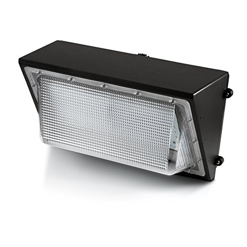 Hyperikon LED 90W Wall Pack Fixture, 400-600W HPS/HID Replacement, 5000K, 10800 Lumens, IP65 Waterproof and Outdoor Rated, DLC 4.2 & UL - Shield Included