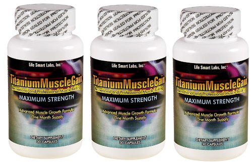 TITANIUM MUSCLE GAIN - CROISSANCE BODY BUILDING - FORCE MAXIMUM - 90 CAPSULES