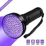 Hinmay UV Blacklight Flashlight, Super Bright 100 LED # 1 Best Powerful Black Light Flashlight 395NM Ultraviolet Urine Detector Flashlight for Home & Hotel Inspection, Pet Urine & Stain Detection