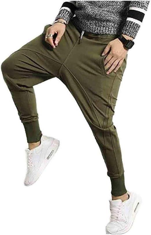 EnergyWD リラックスした弾性ウエストオーバーサイズテーラードフィットジョガーパンツをジョギングする男性