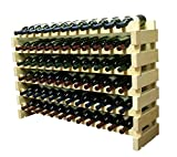 Search : Stackable Modular Wine Rack Stackable Storage Stand Display Shelves, Wobble-Free, THICKER wood, Wobble-Free, (72 Bottle Capacity, 6 rows x 12)