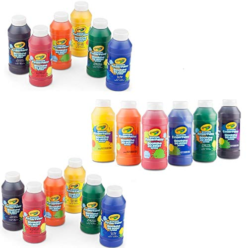 (Crayola Washable Finger Paints, 18 Count 8 Ounce)