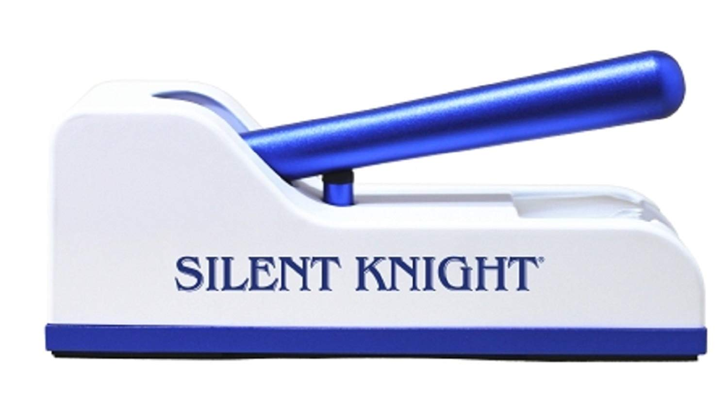 Silent Knight - Pill Crusher - Hand Operated Push Down Mechanism - Blue / White