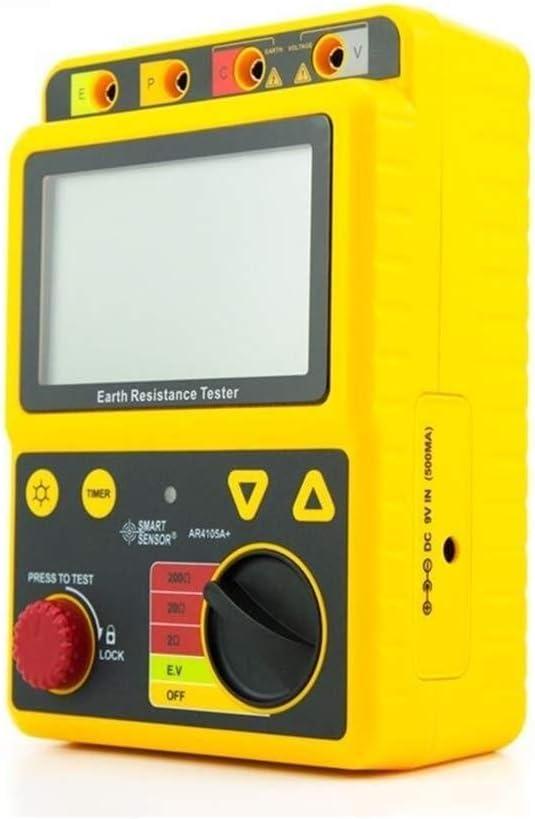 LL-LL Digital Earth Ground Resistance Tester Megohm Meter 2Ohm//20Ohm//200Ohm 2//3Lines High Precision Lightning Protection Tester Measurement Resistance Tester
