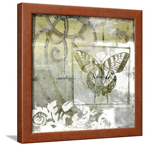 ArtEdge Non-Embld. Butterfly & Ironwork III by Jennifer Goldberger, Wall Art Framed Print, 16x16, Brown Unmatted