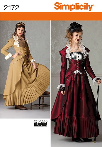 Victorian Patterns Sewing (Simplicity Sewing Pattern 2172: Misses' Costume, Size Hh (6-8-10-12))