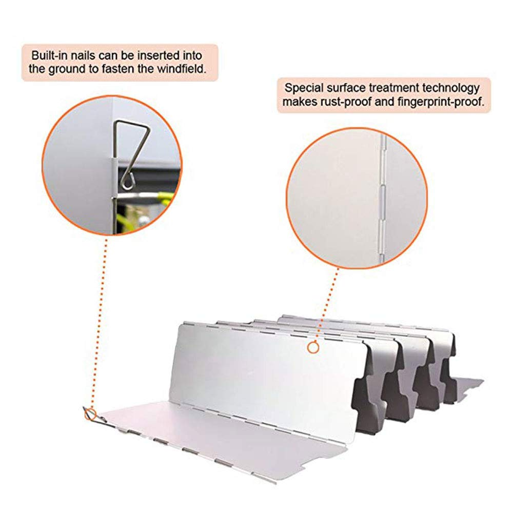 Senderismo CAFFER a Utilizar con y Otros sartenes de Senderismo Compact Plegable para el Senderismo 10/Placas de Parabrisas de aleaci/ón de Aluminio con Caja de Transporte