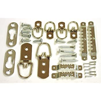 OOK by Hillman 59242 Zinc Ring Assorted Hanger and Picture Frame Back Kit, 32 Piece