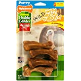 Nylabone Healthy Edibles Puppy Chew Treats, Turkey, Small, 4 Count