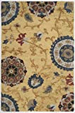 Safavieh Blossom Collection BLM401B Handmade Floral Vines Gold and Multi Premium Wool Area Rug (2′ x 3′) Review