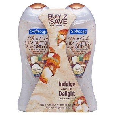 (Softsoap Moisturizing Body Wash, Body Butter Shea and Almond Oil - 15 fl oz/2pk )