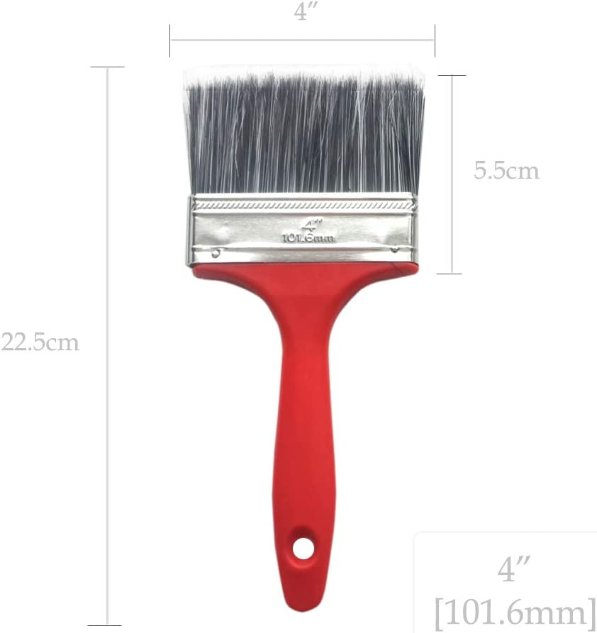 Creates Broad Brushstrokes Provides Smoother Finish Pack of 2 Wide Paint Brushes Holds Paint Well Suitable for All Paints