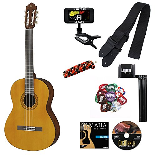 Yamaha Guitar Package (Yamaha C40II Full-Size Student Classical Guitar, Natural, with Legacy Accessory Bundle)