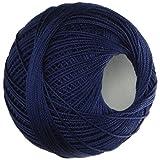 Handy Hands Lizbeth Cordonnet Cotton Yarn, 10, Navy Blue