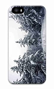 Personalized iPhone 5 3D Hard Case Fir Trees Covered In Snow