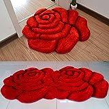HOMEE round the Living Room Bedroom Bed Hanging Basket Swivel Chair Computer Chair Mat/ Roses Room Wedding Door Mats for Children- Big Red Diameter,Big Red,Diameter90Cm(35Inch)