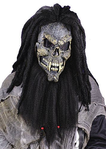 Fearsome Faces Skull Scary Horror Latex Adult Halloween Costume Mask (Hockey Mask Halloween Costume)