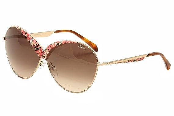f6e61818e1 Emilio Pucci Women s EP0029 0029 33F Gold Multi Havana Fashion Sunglasses  65mm
