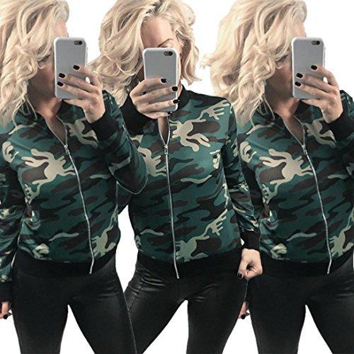 Vest Manches Aviateur Vert Bombers Veste Blouson Camouflage Longues Jacket Femme HaxYfqUP