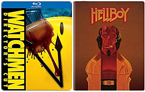 Hellboy Steelbook Exclusive Blu Ray & The Watchmen Steelbook Movie Pack Hero Bundle (V Vendetta Steelbook)